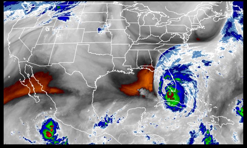 Irma Aug 10 Band 8 Sunrise as it makes landfall